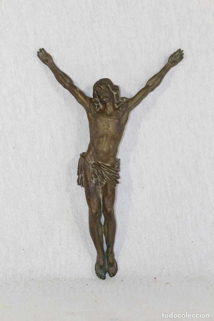 CRISTO JESUCRISTO CRUCIFICADO ANTIGO EN BRONCE (Antigüedades - Religiosas - Crucifijos Antiguos)
