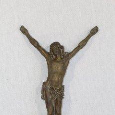 Antigüedades: CRISTO JESUCRISTO CRUCIFICADO ANTIGO EN BRONCE. Lote 118859415