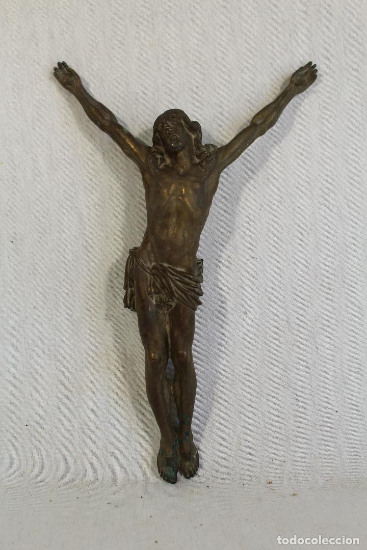 Antigüedades: cristo jesucristo crucificado antigo en bronce - Foto 5 - 118859415