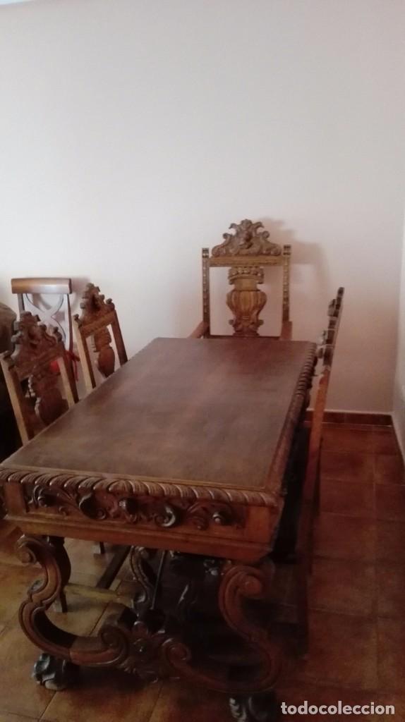 DESPACHO COMPLETO (Antigüedades - Muebles Antiguos - Mesas de Despacho Antiguos)
