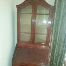 Antiquitäten - Mueble de dos cuerpos escritorio con estanterías y cajones - 91822004