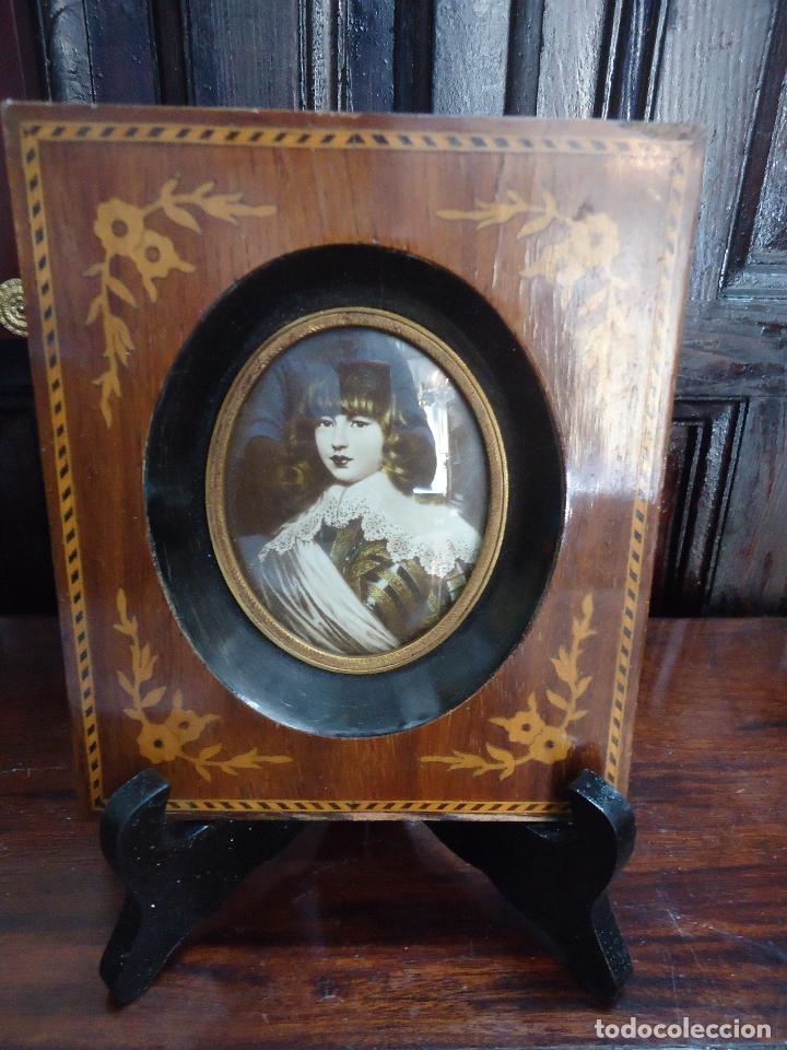 antiguo marco de marquetería, latón dorado y cr - Comprar Marcos ...