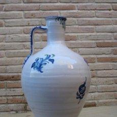 Antigüedades: CANTARO GRANDE EN CERAMICA VIDRIADA DE FAJALAUZA ( GRANADA ). Lote 91859795