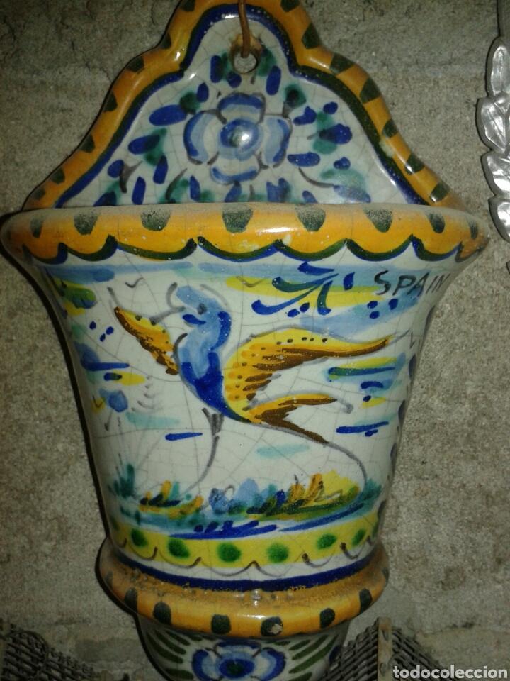 MACETA CERAMICA DE TRIANA (Antigüedades - Porcelanas y Cerámicas - Triana)