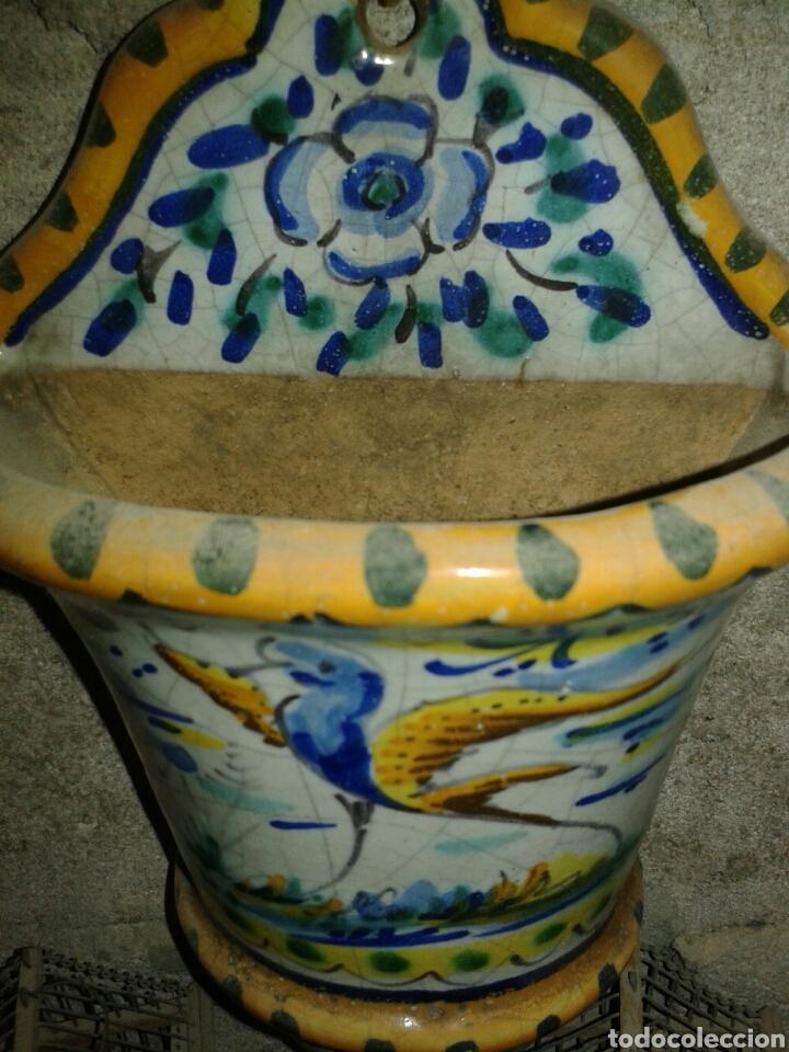 Antigüedades: MACETA CERAMICA DE TRIANA - Foto 3 - 91867235