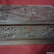 Antigüedades: CAJA TALLADA MADERA. Lote 91869810