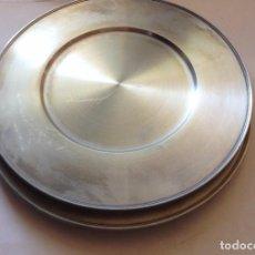 Antigüedades: 6 SALVA PLATOS DE ZINC. Lote 91871255