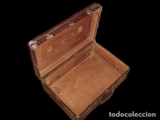 Antigüedades: Excepcional MALETA ANTIGUA,CON MUCHO EMPAQUE. - Foto 2 - 26344070