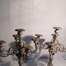 Antigüedades: PAREJA DE CANDELABROS J M. Lote 91885595
