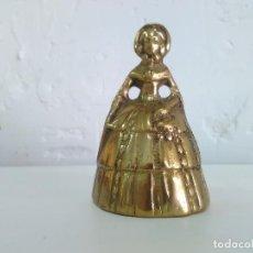 Antigüedades: CAMPANA DE BRONCE DE DAMA ANTIGUA. Lote 91890160