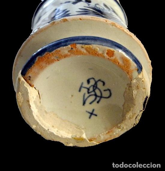 Antigüedades: antiguo búcaro en azules, muy bonito, Cerámica de Teruel o aragonesa ? - Foto 3 - 27853482