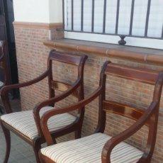 Antigüedades: PAREJAS DE SILLONES DE CAOBA. Lote 91918185