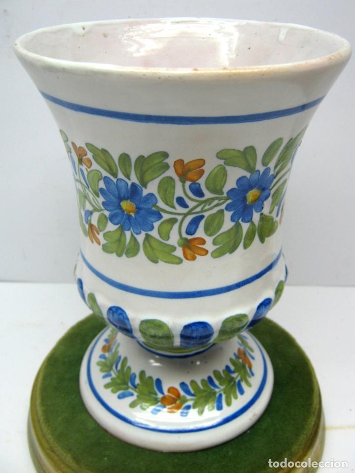 GRAN COPA JARDINERA JARRON CENTRO DE MESA CERAMICA DE MANISES FIRMADO (Antigüedades - Porcelanas y Cerámicas - Manises)