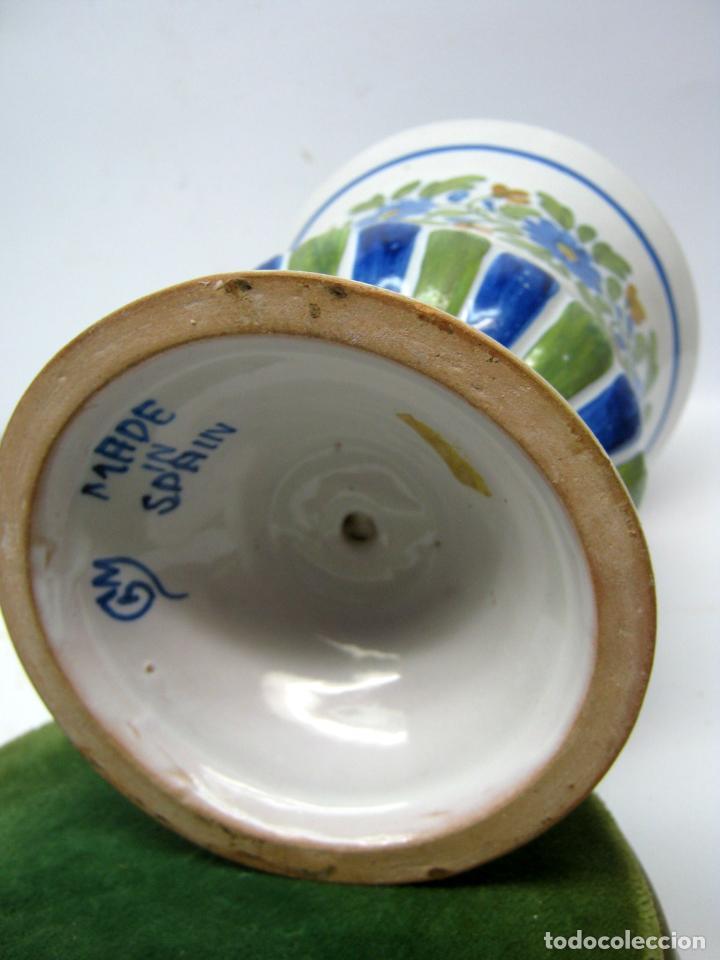 Antigüedades: Gran copa jardinera jarron centro de mesa ceramica de Manises firmado - Foto 3 - 91942355