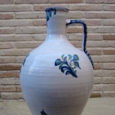 Antigüedades: GRAN CANTARO EN CERAMICA VIDRIADA Y DECORADA DE FAJALAUZA ( GRANADA ). Lote 91959720