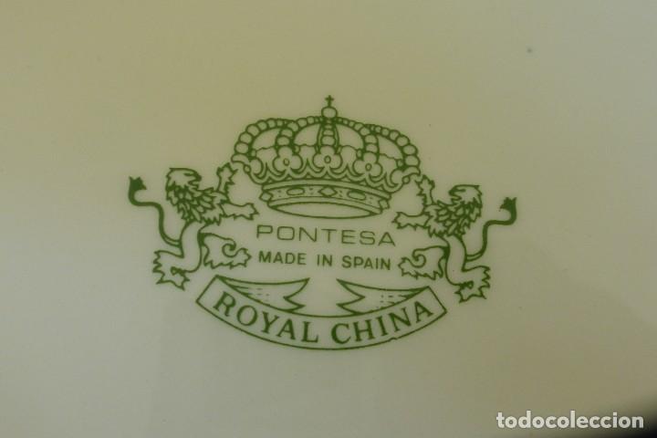 Antigüedades: UNA FUENTE Y SEIS PLATOS DE PONTESA ROYAL CHINA (SANTA CLARA) - Foto 2 - 91962695