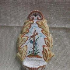 Antigüedades: BENDITERA DE PORCELANA . Lote 91958520
