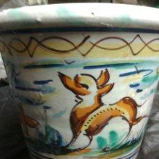 Antigüedades - MACETA CERÁMICA DE TRIANA - 91989853