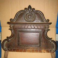 Antigüedades: ANTIGUO TERMINAL DE MADERA. MEDIDAS 37 X 38 CM. Lote 91993345