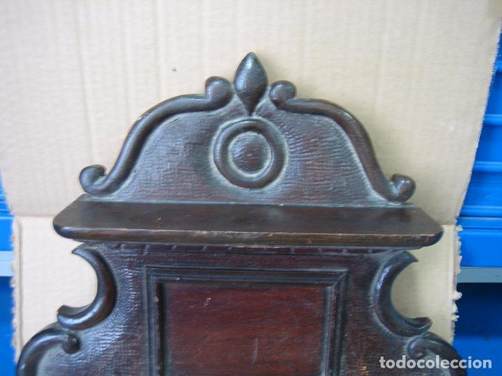 Antigüedades: Antiguo terminal de madera. Medidas 37 x 38 cm - Foto 4 - 91993345