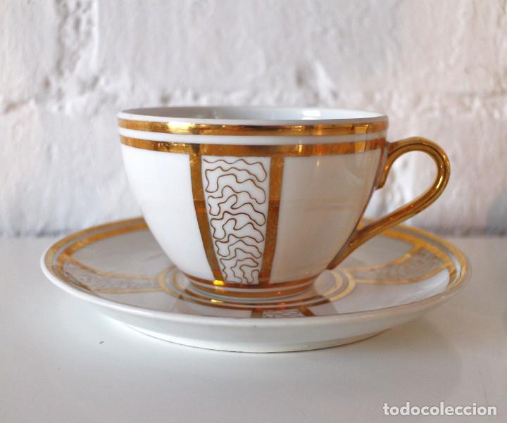 Juego De 2 Tazas Y Platos De Porcelana Dorado Kaufen Botijos
