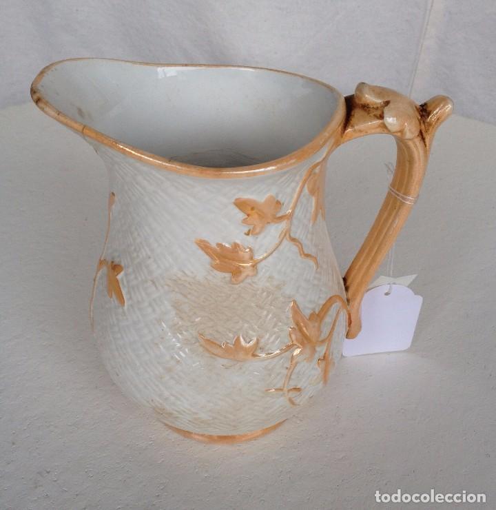 JARRA CERÁMICA FRANCESA SARREGUEMINES ART NOUVEAU (Antigüedades - Porcelanas y Cerámicas - Otras)