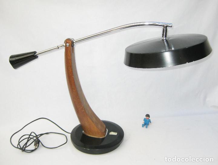 LAMPARA ANTIGUA VINTAGE 1961 FASE PENDULO MADRID ICONO POP DISEÑO ESPAÑOL (Antigüedades - Iluminación - Lámparas Antiguas)