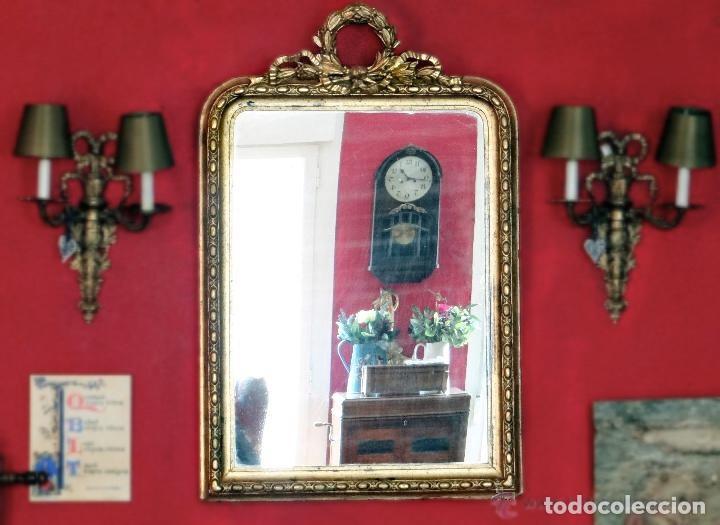 Antigüedades: maravilloso espejo isabelino, S:XIX. - Foto 2 - 164958141