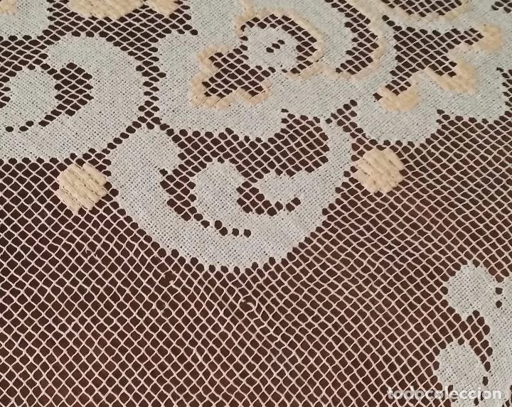 Antigüedades: Antiguo mantel - encaje de red - Foto 7 - 92091510
