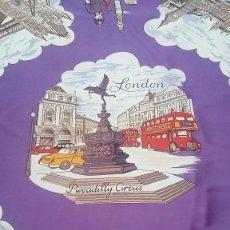 Antigüedades: ANTIGUO PAÑUELO RECUERDO DE LONDRES 1900, PERFECTO ESTADO, SIN USO. Lote 92093335