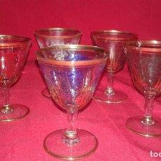 Antigüedades: COPAS DE CRISTAL DECORADAS. Lote 92097750