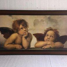 Antigüedades: CUADRO ANGELITOS. Lote 92101920