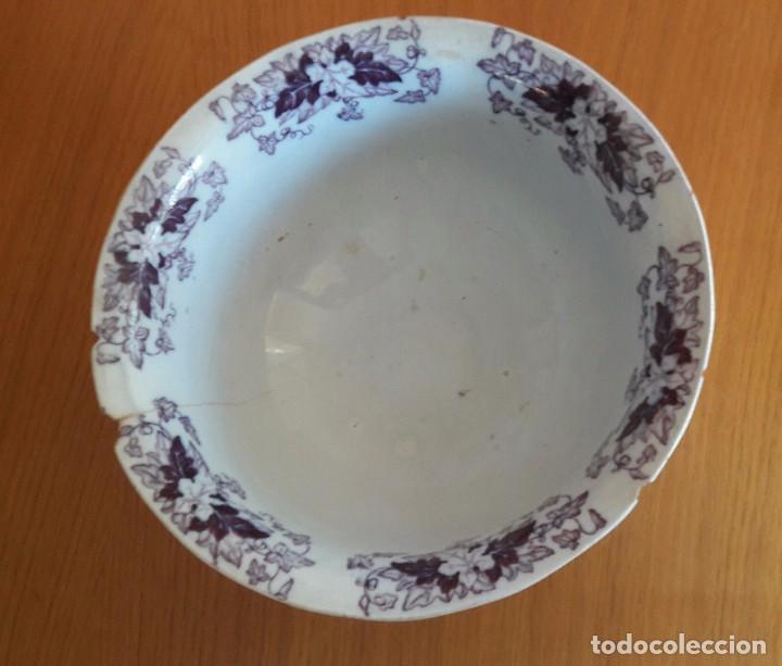 Antigüedades: Centro de mesa, frutero pickman s xix - Foto 3 - 92102135