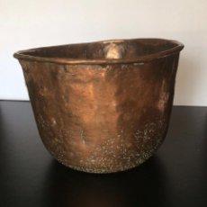Antigüedades: ANTIGUA CALDERA DE COBRE CON REMACHES ,SIGLO XIX,IDEAL COLECCIONISTAS. Lote 92192435