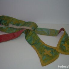 Antigüedades: ANTIGUA ESTOLA BORDADA.. Lote 92246965