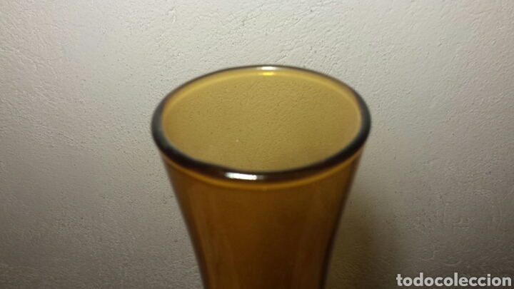 Antigüedades: Jarron antiguo cristal ambar grande Vintage - Foto 4 - 92249020