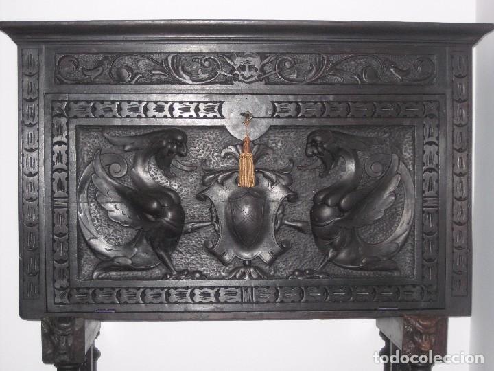 Antigüedades: Bargueño castellano de finales del XVIII principios XIX, - Foto 3 - 92272530