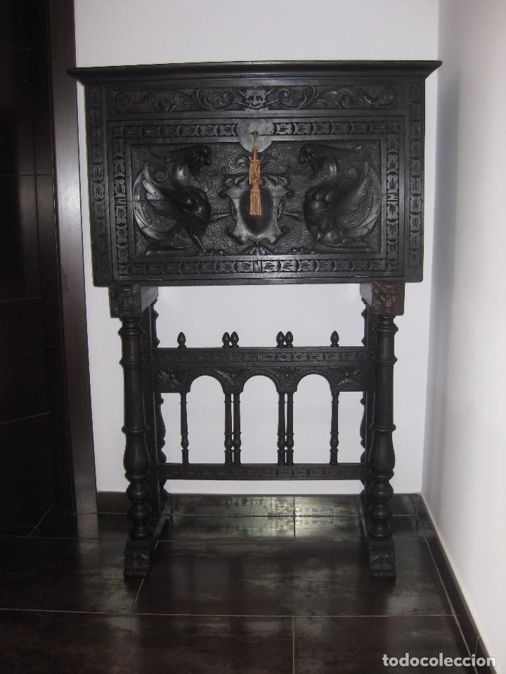 Antigüedades: Bargueño castellano de finales del XVIII principios XIX, - Foto 4 - 92272530