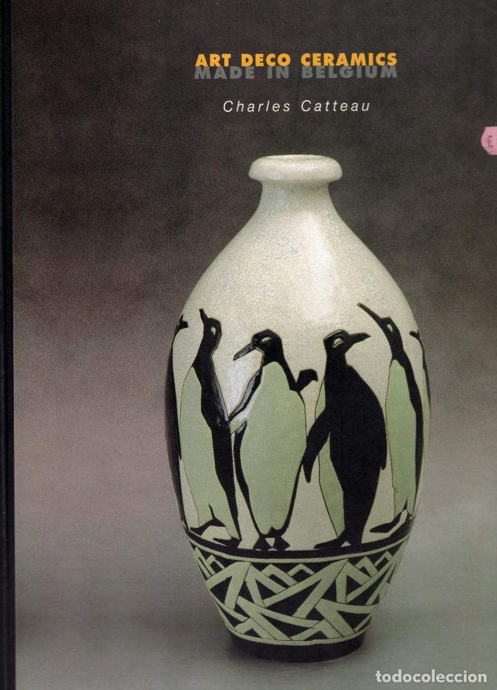 Antigüedades: Vaso de Charles Catteau. Craquelé. Bélgica. - Foto 5 - 75190171