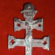 Antigüedades: ANTIGUA CRUZ DE CARAVACA SIGLO XVIII PRECIOSA. Lote 92289890