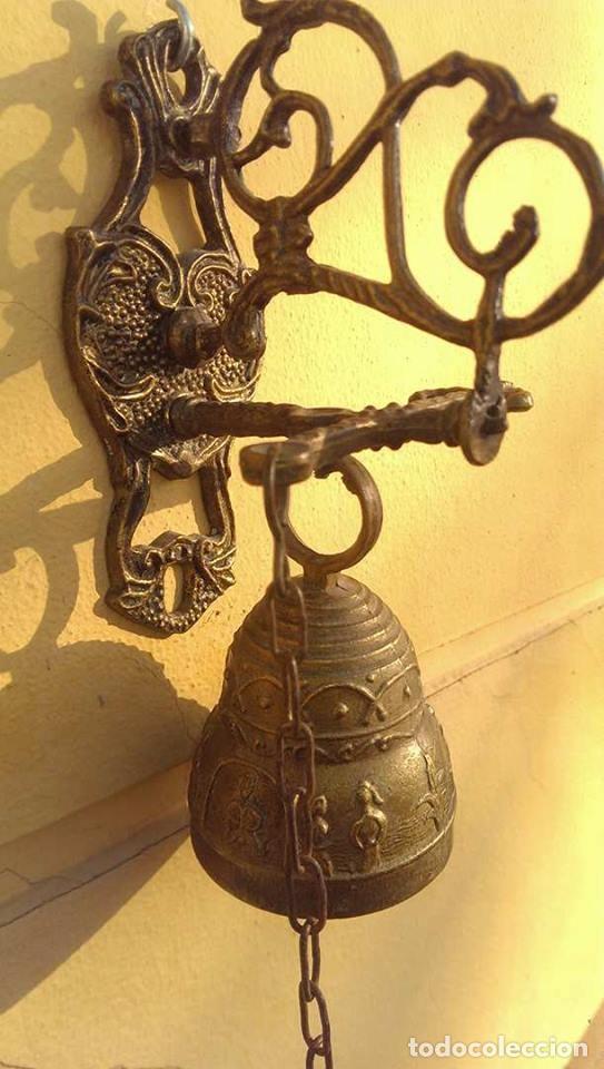 ANTIGUA CAMPANA LLAMADOR (Antigüedades - Hogar y Decoración - Campanas Antiguas)