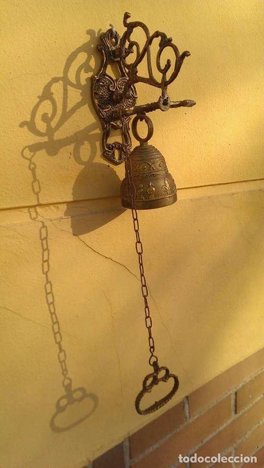 Antigüedades: Antigua Campana llamador - Foto 4 - 94838707