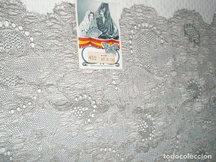 Antigüedades: MANTILLA ORIGINAL ANTIGUA ESPAÑOLA DISEÑO RECTANGULAR NUEVA Y CON ETIQUETA - Foto 2 - 92316875