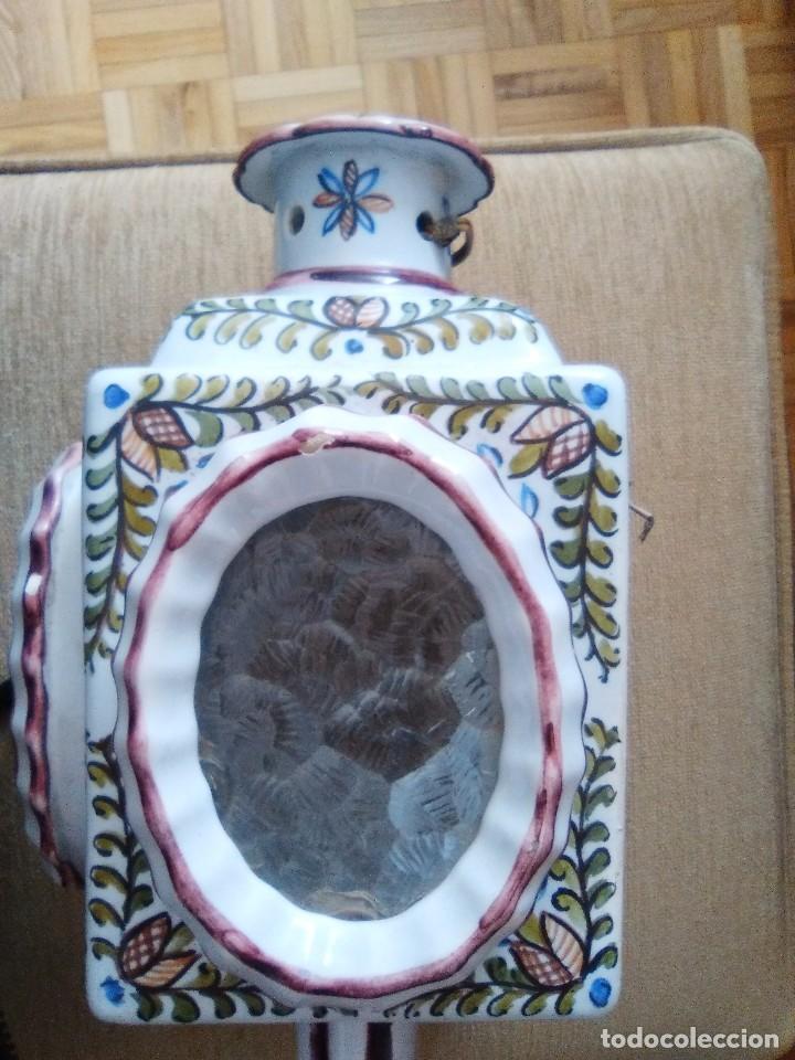 Antigüedades: Bonito farol o portavelas antiguo - Foto 2 - 92323435