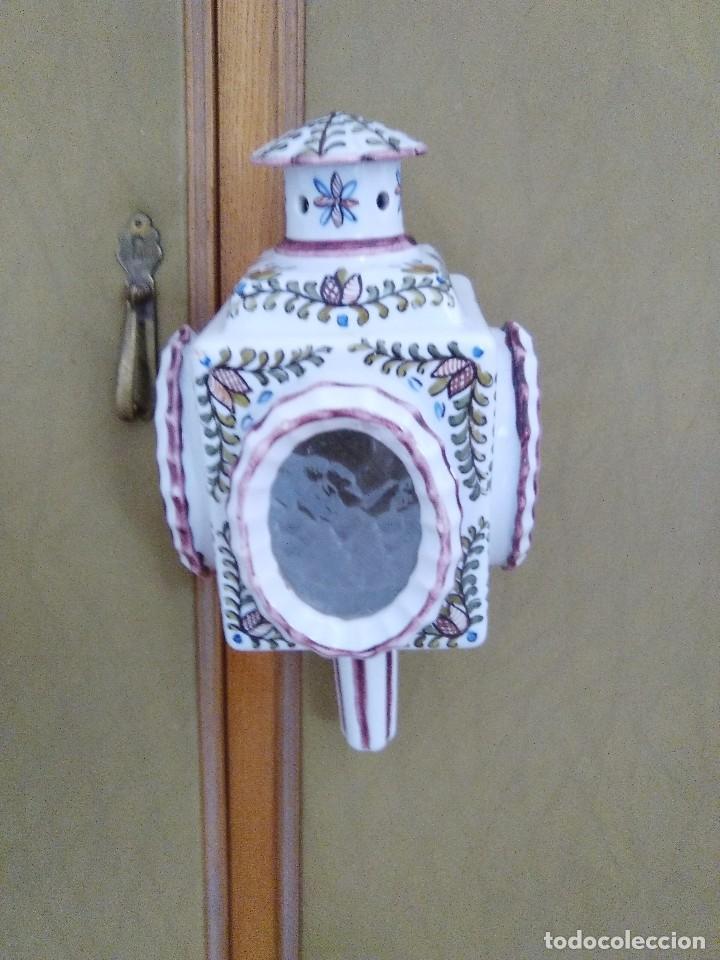 Antigüedades: Bonito farol o portavelas antiguo - Foto 4 - 92323435