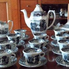 Antigüedades: ANTIGUO JUEGO DE CAFE DE LA CARTUJA. Lote 92341560