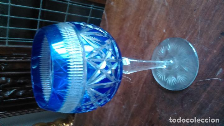 Antigüedades: Gran copa de cristal checoslovaco tallado de extraordinaria belleza - Foto 2 - 92343525