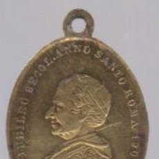 Oggetti Antichi: MEDALLA PAPA LEON XIII GIUBILEO SECOL.ANNO SANTO ROMA 1900. Lote 92372450
