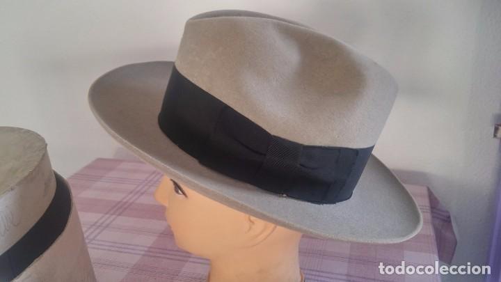 SOMBRERO TIPO BORSALINO (Antigüedades - Moda - Sombreros Antiguos)