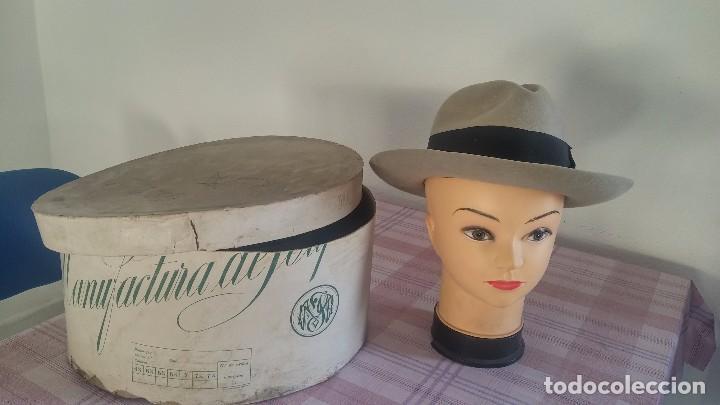 Antigüedades: Sombrero tipo borsalino - Foto 2 - 92425900